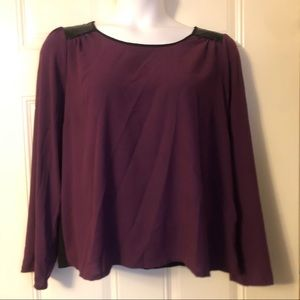 Forever 21 Black and Purple Top